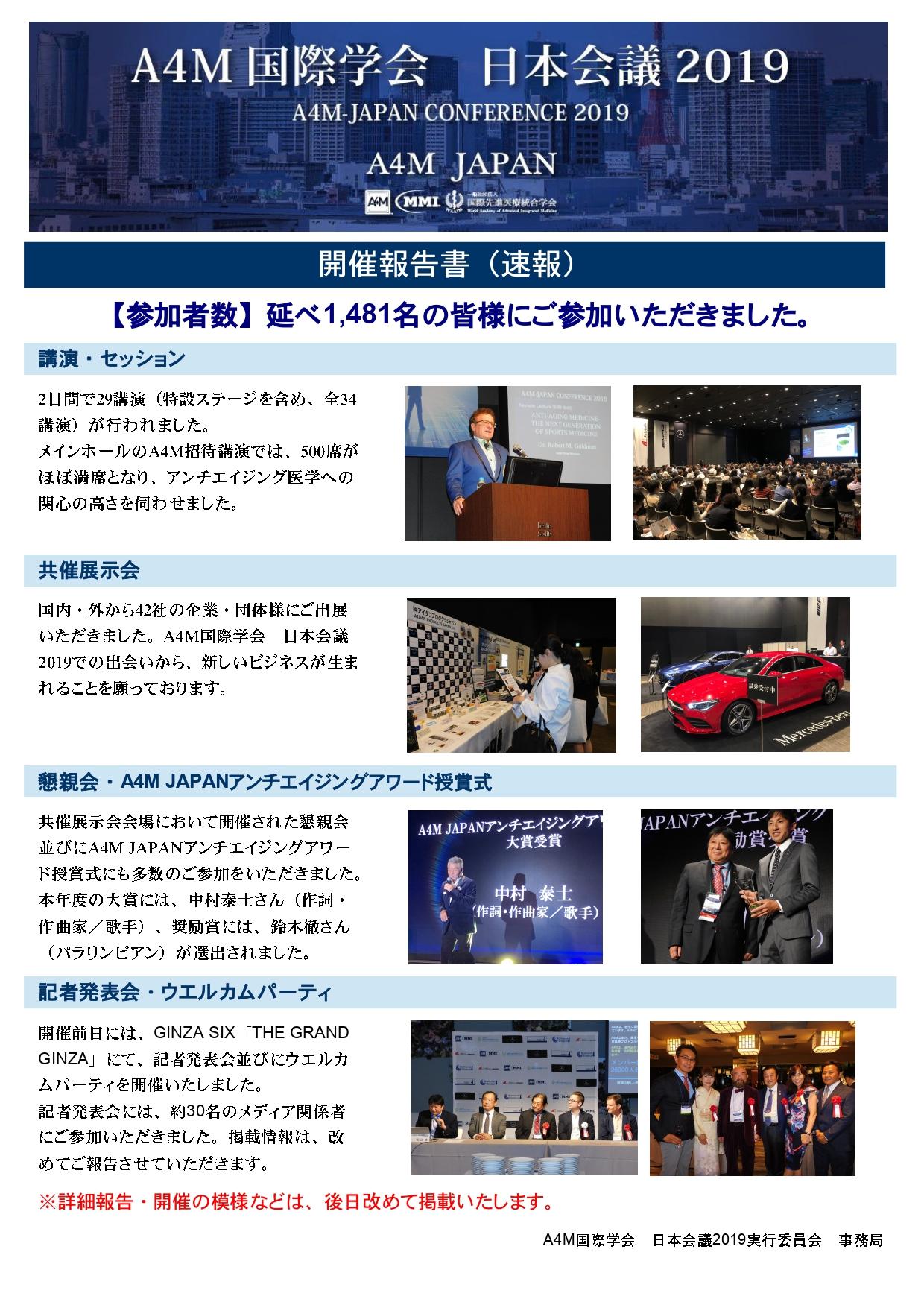 【A4M国際学会日本会議2019】開催報告書(速報)